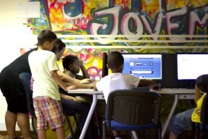 """The digital inclusion centre from the project """"Espaço Jovem da Quinta do Lavrado – E5G"""""""